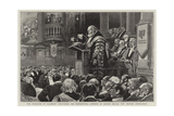 The Marquess of Salisbury Delivering His Presidential Address at Oxford before the British Associat Giclee Print by Alexander Stuart Boyd