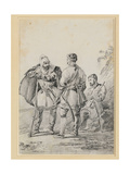 Three Caucasian Men in Conversation Giclee Print by Alexander Orlowski