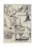 Royal Canoe Club, Race for the Challenge Cup at the Welsh Harp, Hendon Giclee Print by Alfred Courbould