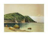 Rocky Shore Giclée-tryk af Alfred Thompson Bricher