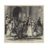 Going to the Flower Sermon at St Catherine Cree's, on Whit Tuesday Giclee Print by Alfred Walter Bayes