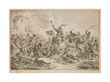 Battle Between the Georgians and the Mountain Tribes, 1826 Giclee Print by Alexander Orlowski