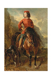 Young Rider on a Shetland Giclee Print by Alfred Dedreux