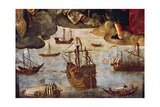 Caravels and Boats Giclee Print by Alejo Fernandez