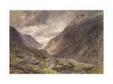 Pass of Llanberis, C.1853 Giclee Print by Alfred William Hunt
