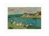 Banks of the River (Les Bords De Riviere), 1897 Giclee Print by Alfred Sisley