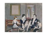 The Schuyler Family, 1824 Giclee Print by Ambrose Andrews