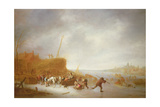 Winter Landscape with Skaters Giclee Print by Adriaen Jansz. Van Ostade