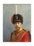 Study for a Portrait of Emperor Nicholas Ii, Chief of the Guard Hussar Regiment, C.1908 Giclee Print by Alexander Vladimirovich Makovsky