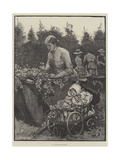 In a Kentish Hop-Garden Giclee Print by Alfred Edward Emslie