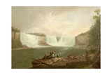 Niagara: the American Falls, C.1821 Giclee Print by Alvan Fisher