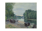 Huts at the Edge of the Loing; Cabanes Au Bord Du Loing, 1896 Giclee Print by Alfred Sisley