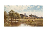 Cattle Watering, Kempstead-On-Thames Giclee Print by Alfred Augustus Glendening