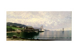 The Landing, Bailey Island, Maine, C.1907 Giclée-tryk af Alfred Thompson Bricher