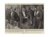 The Banquet to Sir John Tenniel, Mr Balfour Bidding Good-Night to the Guest of the Evening Giclee Print by Alexander Stuart Boyd
