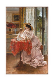 The Contented Mother, 1872 Giclee Print by Alfred Emile Stevens