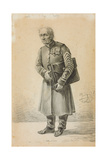 A Veteran of the Imperial Russian Army, 1837 (Pencil and Charcoal on Paper) Giclee Print by Alexander Orlowski