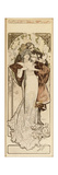 A Maquette for the Lithograph 'Programme 27 Octobre 1900', C. 1900 (Pencil, Ink, W/C) Giclee Print by Alphonse Mucha
