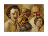 Study of Heads, C. 1830 Giclee Print by Aleksandr Andreevich Ivanov