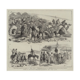 With the Russians Reconnaissance on the Lom Giclee Print by Alfred Chantrey Corbould