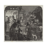 A Visit to the Old Folk on Christmas Eve Giclee Print by Alfred William Hunt
