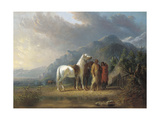 Sioux Camp Giclee Print by Alfred Jacob Miller