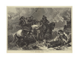 The War, Bashi-Bazouks Burning a Village Giclee Print by Alfred William Hunt