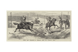 With the Russians, a Cossack Raid on Turkish Dogs Giclee Print by Alfred Chantrey Corbould