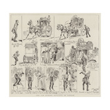 The Cab Runner Nuisance in London Giclee Print by Alfred Chantrey Corbould