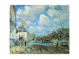 Flood at Port-Marly, 1876 Giclee Print by Alfred Sisley