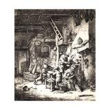 Peasant Family, 1647 Giclee Print by Adriaen Jansz. Van Ostade