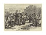 The War, Women Carrying Wounded Soldiers to the Hospital at Ivanitza Giclee Print by Alfred William Hunt