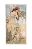 Summer; Ete, C.1896 Giclee Print by Alphonse Mucha