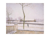 Snow Effect (Effet De Neige) C. 1880-1885 Giclee Print by Alfred Sisley