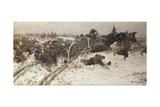 Military Skirmish, 1915 Giclee Print by Alexander Alexeyevich Alexeyev