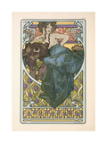 Plate 47 from the Book 'Documents Decoratifs', Published in 1902, 1902 Giclee Print by Alphonse Mucha