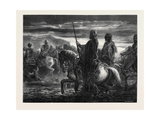 The Passage of the Ford, by Decamps; Le Passage Du Gué Giclee Print by Alexandre Gabriel Decamps
