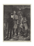 The State of Ireland, Police Patrol Challenging a Suspected Person Giclee Print by Aloysius O'Kelly
