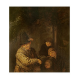 The Itinerant Musician, 17th Century Giclee Print by Adriaen Jansz. Van Ostade