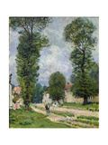 The Road to Marly-Le-Roi, or the Road to Versailles, 1875 Giclee Print by Alfred Sisley