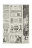 Page of Advertisements Giclee Print by Alfred Crowquill