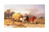 Carting Hay, 19th Century Giclee Print by Alexis De Leeuw