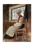 Scandinavian Peasant Woman in an Interior, C.1906 (W/C with Graphite on Card) Giclee Print by Alexandre Lunois