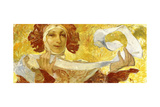 Woman with a Ribbon, C. 1902-1903 Giclee Print by Alphonse Mucha