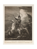 Portrait of Count Platov (1751-1818) on Horseback Giclee Print by Alexander Orlowski
