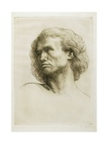 Head of a Model, 1877 Giclee Print by Alphonse Legros