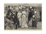 A Flower Show at the Royal Botanic Society's Gardens, Regent's Park Giclee Print by Alfred Edward Emslie
