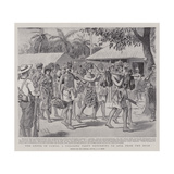 The Crisis in Samoa, a Foraging Party Returning to Apia from the Bush Giclee Print by Alexander Stuart Boyd
