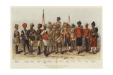 Types of the Bombay Army Giclee Print by Alfred Crowdy Lovett