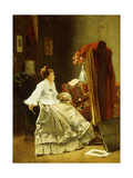 Artist at Work Giclee Print by Alfred Emile Stevens
